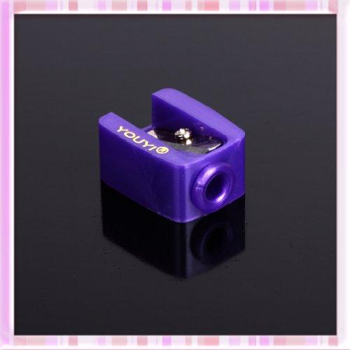 Purple Makeup Cosmetic single span pencil sharpener for eyebrow eyeliner Tool B0215