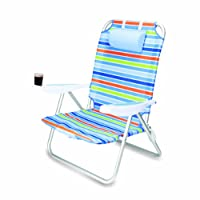 Picnic Time Monaco Folding Beach Chair from Brookstone