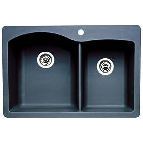 Blanco 511-607 Diamond 1-3/4 Bowl Kitchen Sink, Anthracite Finish