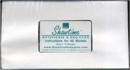 Showtime Rotisserie & Bbq Oven Instructions For All Models
