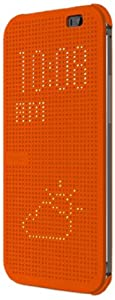 HTC Dot HC M100 Etui flip pour HTC One M8 Orange
