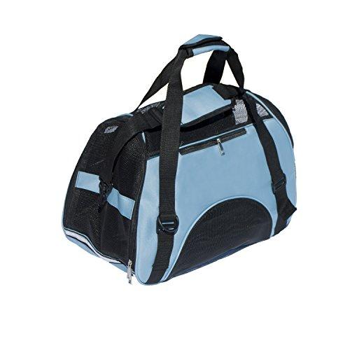 ALEKO LPC04MB Spacious Traveler Pet Comfort Carrier Tote Bag Portable Pet Home, Blue