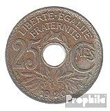 Francia km-No.. : 867 1919 muy ya Cobre-Nickel 1919 25 Centimes Monograma (monedas para los coleccionistas)