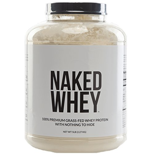 NAKED WHEY - 5LB #1 Undenatured 100% Grass Fed Whey Protein Powder from USA Farms - Bulk, Unflavored, GMO-Free, Gluten Free, Soy Free, Preservative Free - Stimulate Muscle Growth - Enhance Recovery - 76 Servings (All Natural Protein Powder compare prices)