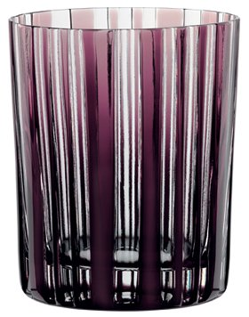 Nachtmann Skin Tumbler/Double Old Fashioned Glass, Amethyst