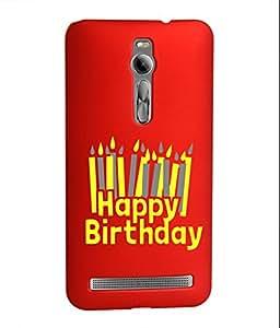 KolorEdge Back Cover For Asus Zenfone 2 - Red (1404-Ke15095Zen2Red3D)