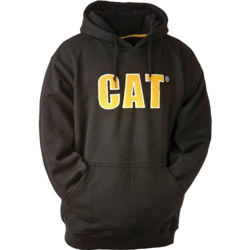 Cat Thermal Lined Hooded Sweatshirt / Mens Sweatshirts / Sweatshirts (Small) (Black)