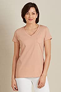 Fair Indigo Pocket V-neck Fair Trade Organic Tee