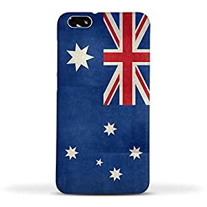 FUNKYLICIOUS Huawei Honor 4x Back Cover Flag of Australia vintage retro style Design (Multicolour)