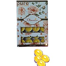 Pure Source India 24 Pcs Pack Of Scented Tea Light Candles Citronella Fragrance Smokeless ,BURN TIME 3 HRS.