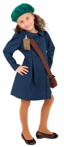 [Smiffy's World War Ii Girl Dress With Hat And Bag (Small) by Smiffy's] (World War 2 Evacuees Costumes)