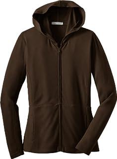 Port Authority Ladies Modern Stretch Cotton Full-Zip Jacket - Dark Chocolate Brown L519 M