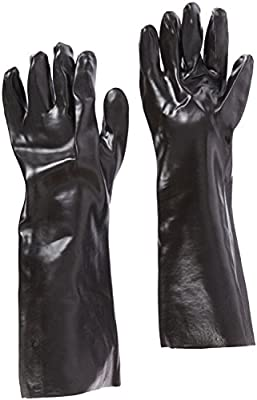 "West Chester 12018 18"" Chemical Resistant Gloves, Large, Black (Pack of 1 Pair)"