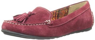 AK Anne Klein Women's Syver Loafer,Dark Red,6.5 M US