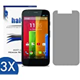 Halo Screen Protector Film High Definition (HD) Clear (Invisible) for Moto G (3-Pack) - Lifetime Replacement Warranty