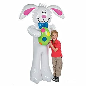 "70"" Inflatable Bunny with Easter Egg"