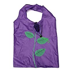 Rose Flowers Reusable Folding Shopping Bag Grocery Bags Tote