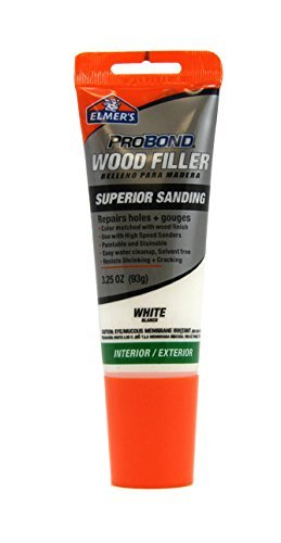 Elmer s probond wood filler repairs holes gouges superior sanding interior exterior for Exterior wood filler paintable