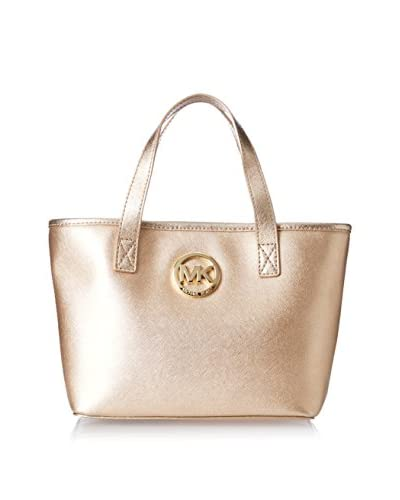 MICHAEL Michael Kors Women's Jet Set Extra Small Travel Tote, Pale Gold
