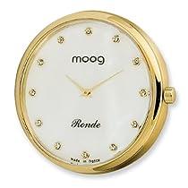 Moog Gld-tone Pol. Stnlss Stl/MOP Dial/All Crystal Mrkrs Watch Only