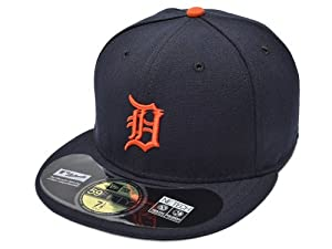 Mens New Era MLB On Field Fitted Cap Detroit Tigers Home 7.625