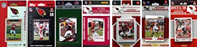 NFL Arizona Cardinals 7 Different Licensed Trading Card Team Sets