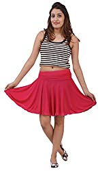 Carrol short Skirt-Rani Pink