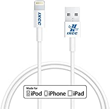 [Apple MFI Certified] iXCC Lightning Cable 3ft (Three Feet) Element Series 8 pin to USB SYNC Cable Charger Cord for Apple iPhone 5 / 5s / 5c / 6 / 6 Plus, iPod 7, iPad Mini, iPad 4 / iPad Air