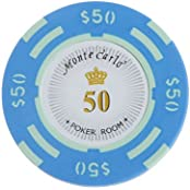 Magideal 50 Dollar Face Value Monte Carlo Poker Room Label Casino Game Chips