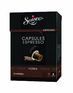 Buy Senseo Espresso Forza, Douwe Egberts, 10 Capsules, Nespresso compatible - Douwe Egberts