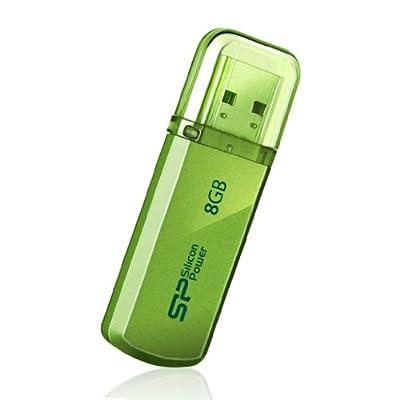 Silicon Power Helios 101 16GB USB 2.0 Flash Drive, Apple Green (SP016GBUF2101V1N)