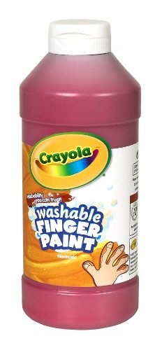 Crayola Washable Fingerpaint 32-Ounce Plastic Squeeze Bottle, Red