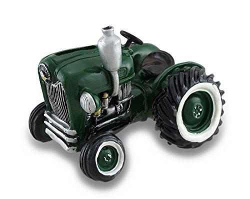 Vintage Look Green Farm Tractor Coin Bank