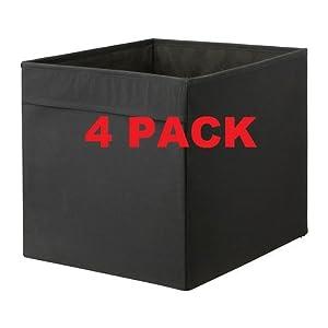 Amazon Com Ikea Drona Storage Bins 4 Pack Black Fits