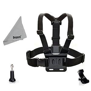 DEYARD Chest Mount Harness for HERO Cameras Hero 4 Hero3+ Hero3 Hero2 GoPro 1 Adjustable Strap + J-Hook Mount + Thumb Screw Knob