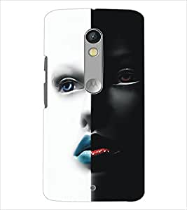 MOTOROLA MOTO X PLAY TWO FACE Designer Back Cover Case By PRINTSWAG
