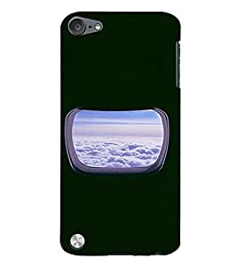 PrintVisa Window Plane Clouds Design 3D Hard Polycarbonate Designer Back Case Cover for Apple iPod Touch 5