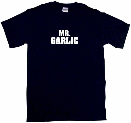 Mr Garlic Men'S Tee Shirt Large-Black
