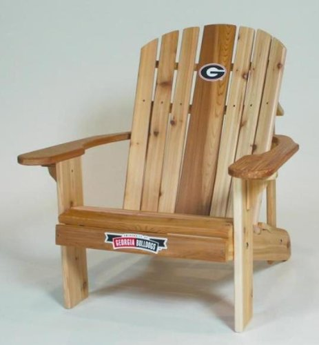 University of Georgia Bulldogs Logo Adirondack Chair with 23 inch Seat Width