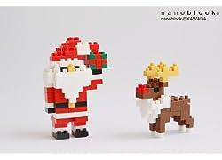 nanoblockクリスマスカード2012(サンタ)メッセージありタイプ