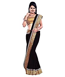 My online Shoppy Georgette Saree (My online Shoppy_70_Black)