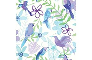 Polly Parrot Wallpaper - Purple from manufacturer