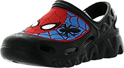 Marvel Boys Spiderman Clog Sandals,Blue-Black-Red,8