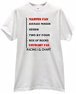 MARK MARTIN FAN PRIDE IQ CHART STEWART FANS AT THE BOTTOM T SHIRT jersey (adult xl)