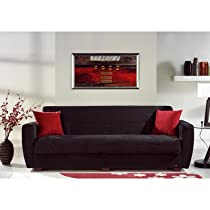 Big Sale Miami Sleeper Sofa Color: Rainbow Black