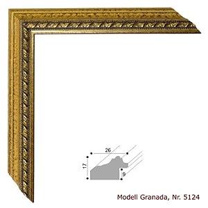 bilderrahmen granada antik gold 30x30 cm komplett mit. Black Bedroom Furniture Sets. Home Design Ideas