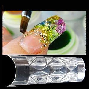 100 Mosaic Nail Tips - Bagged: Amazon.co.uk: Beauty
