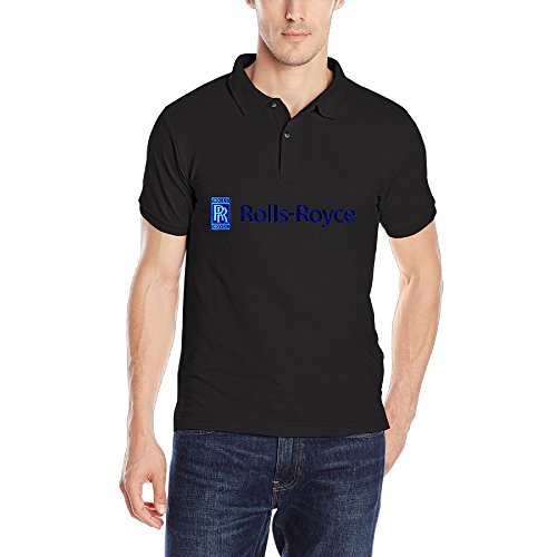 ZXHCKH Men's Rolls Royce Seek Logo Pique Polo Shirt (Rolls Royce Polo compare prices)