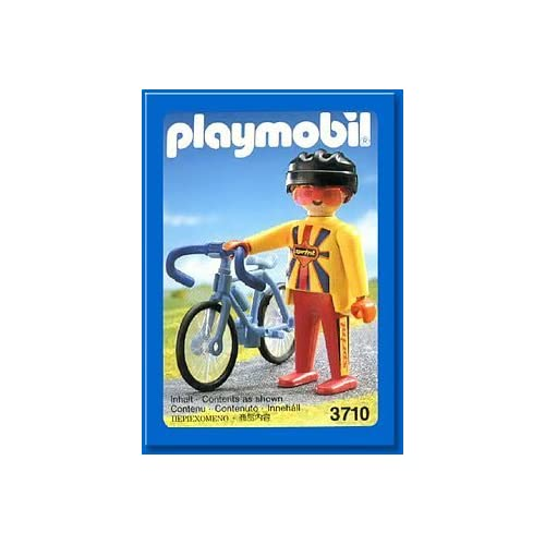 Amazon.com: Playmobil 3710 Cyclist Blue Bike