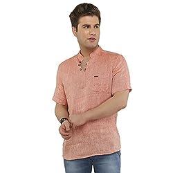 Attila Men's Casual Shirt (1106412504_Orange_42)